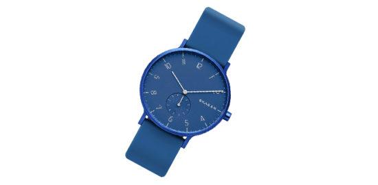 スカーゲン青い時計