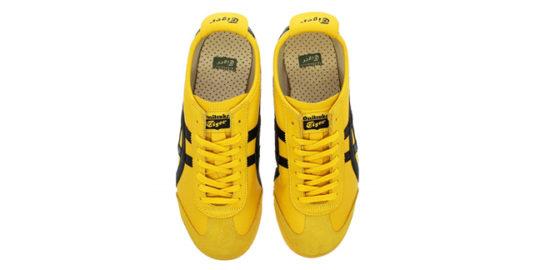 オニツカタイガー黄色いスニーカー