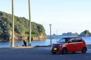 赤い軽自動車は大人可愛い